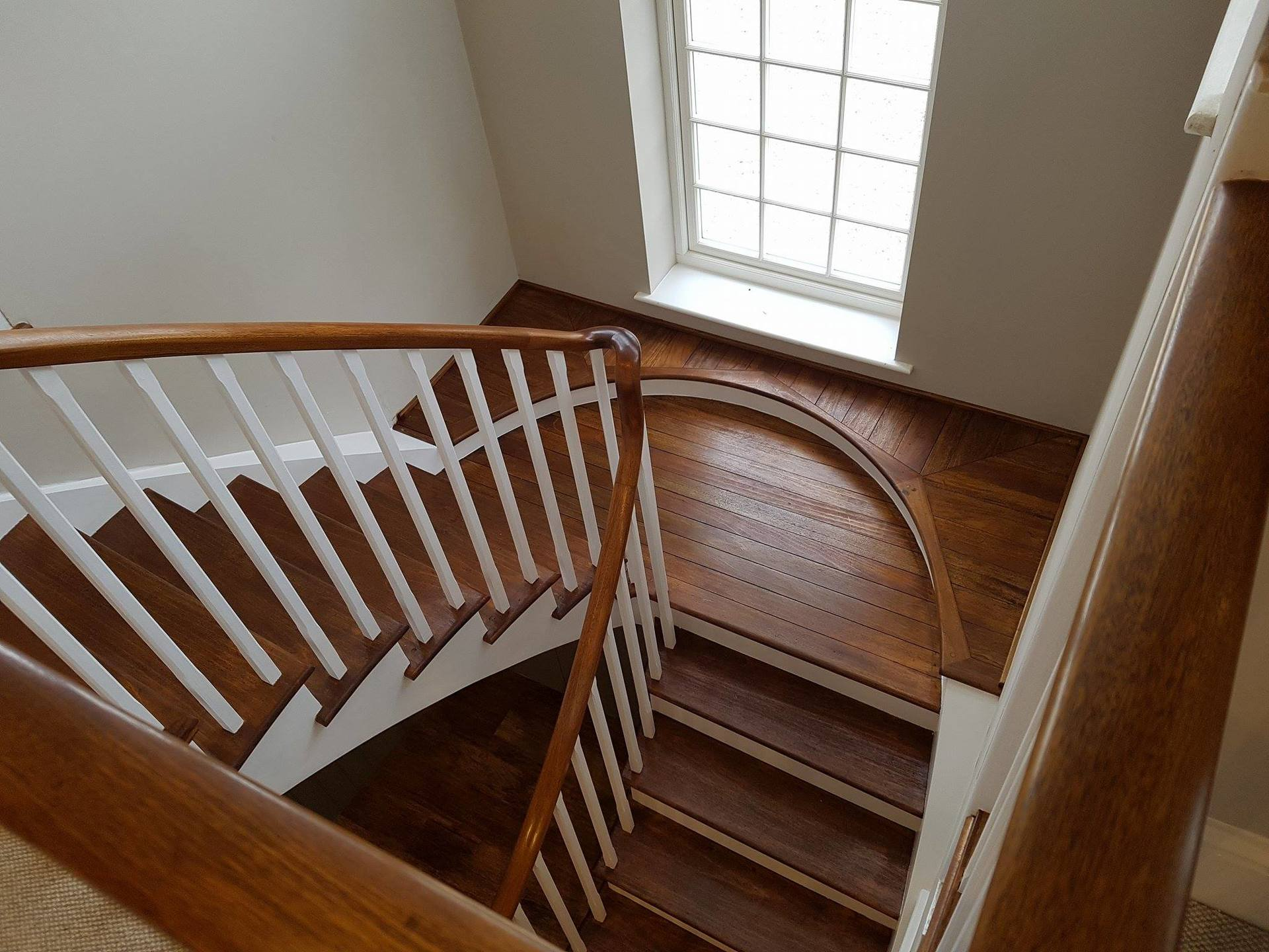 Restored Oak Staircase Painted And Oiled