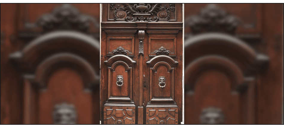 wooden ancient doors