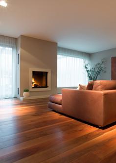 Sanded house floor