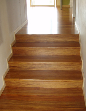 Freshly sanded floor