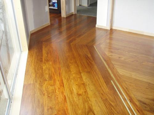 Expert floor sand job