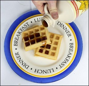 Waffle maker - United Kingdom and Worldwide - The Malted Waffle Company - Pouring Syrup