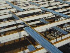 Structural steel framework for Wellman Car Park, Grantham