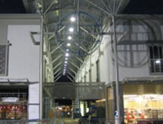 Extension steelwork for Priory Shopping Centre, Worksop