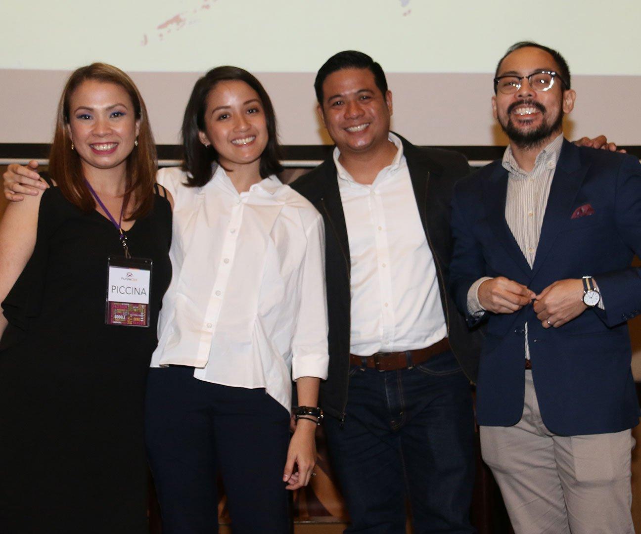 L-R: Piccina Alvarez (PurpleClick), Sheena Siao (Facebook), Fro Oliva (PLDT), Jonathan Joson (Google)