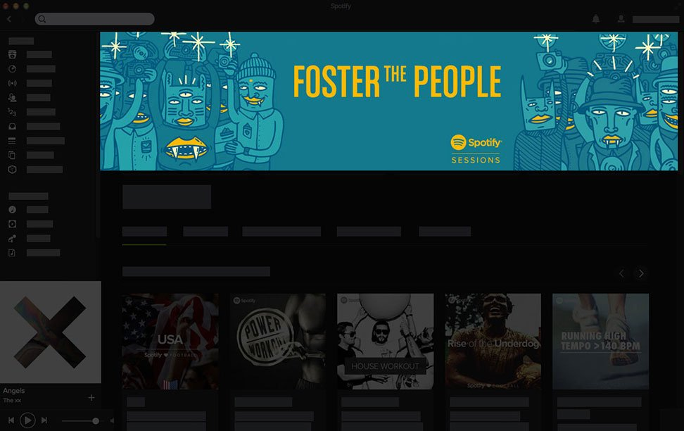 Spotify Homepage Takeover