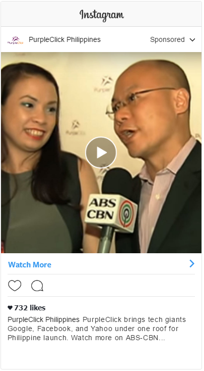 Instagram Video Ads: PurpleClick Launch Coverage by ABS-CBN