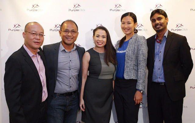L-R: Kriss Channe (PurpleClick SG), Ken Lingan (Google), Piccina Alvarez (PurpleClick PH), Lianne Dehaye (Facebook), Rueben Vijaratnam (Yahoo)