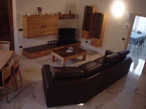 salotto divano pelle