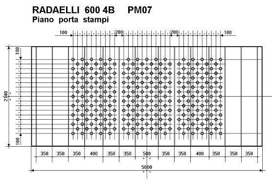 PRESSA MECCANICA RADAELLI 600 T. TRANSFER A GONZAGA