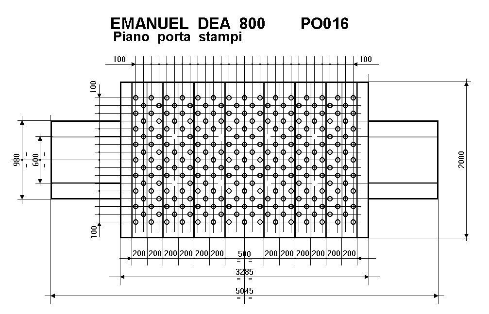 PRESSA OLEODINAMICA EMANUEL DEA 800 T.  A FABBRICO