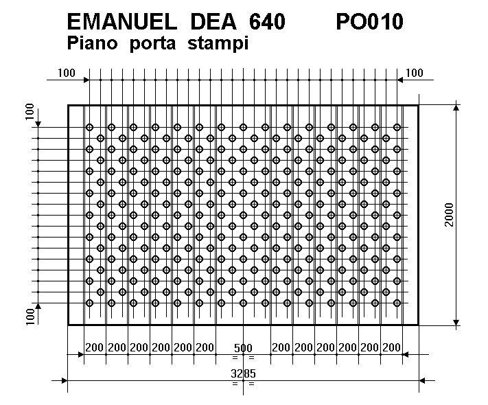 PRESSA OLEODINAMICA EMANUEL DEA 640 T.  A REGGIO EMILIA
