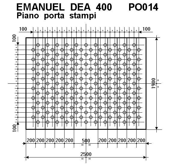 PRESSA OLEODINAMICA EMANUEL DEA 400 T.  A REGGIO EMILIA