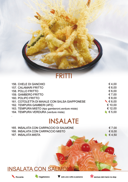 Menu Cena All You Can EAT - Ristorante Cinese e Giapponese Voghera (Pavia)