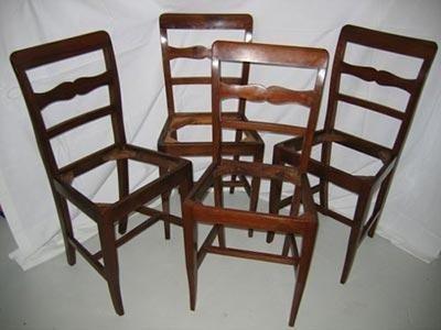 Sedie antiche Epoca Direttorio in legno di noce