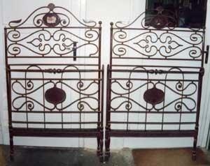 Restauro letto in ferro battuto