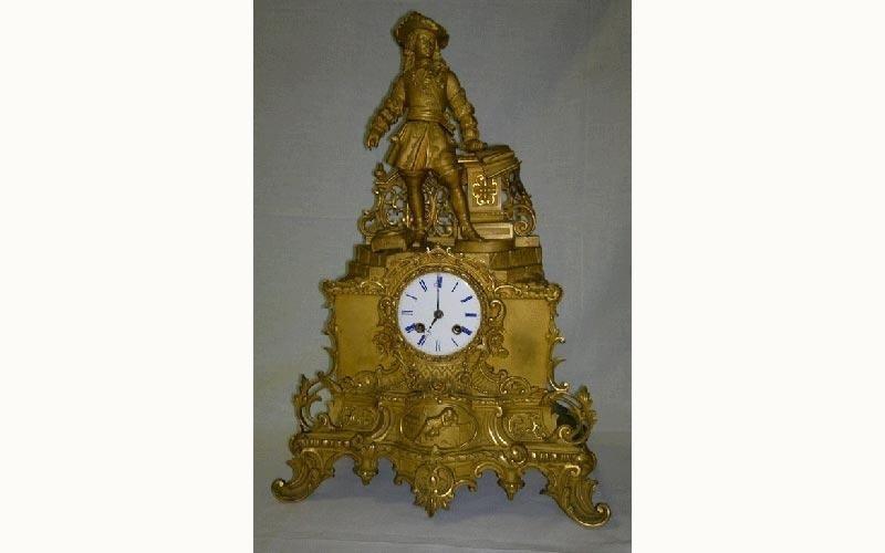 Orologio parigino dorato