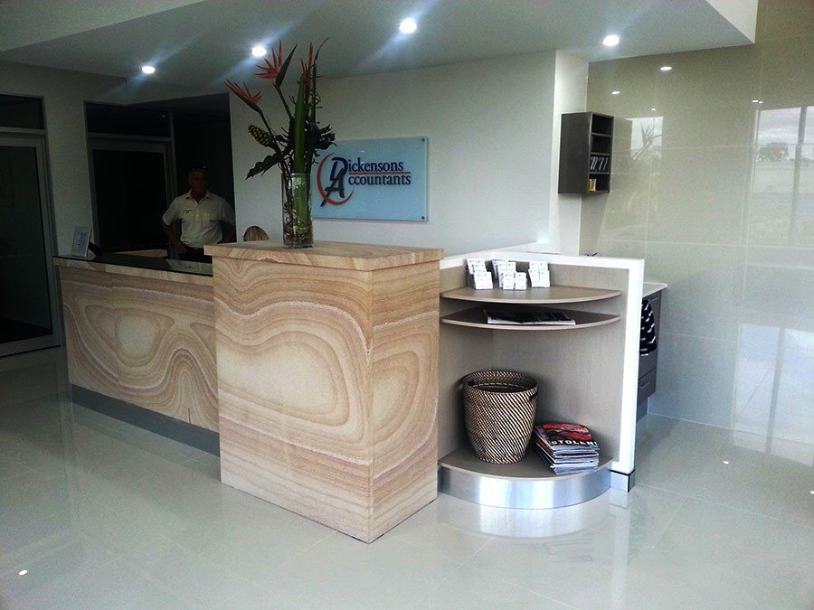 front desk of the store