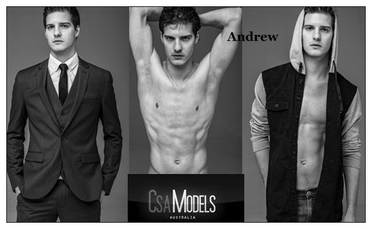 ANDREW male model