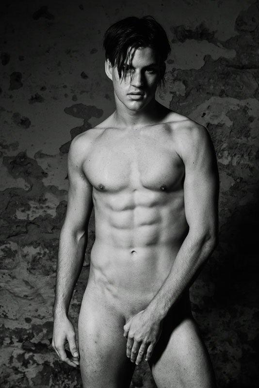 Fit nude model