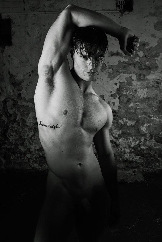 Implied nude male models