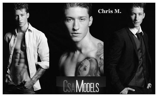 CHRIS M male model