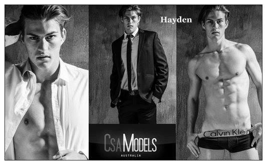 HAYDEN male model
