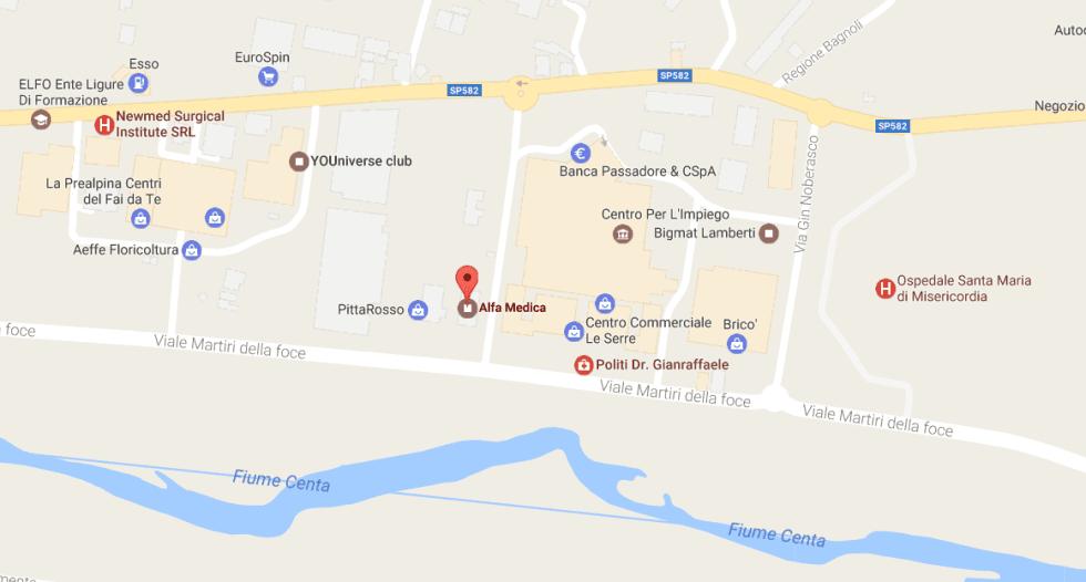 Albenga in viale Martiri della foce 68 presso centro Alfa Medica
