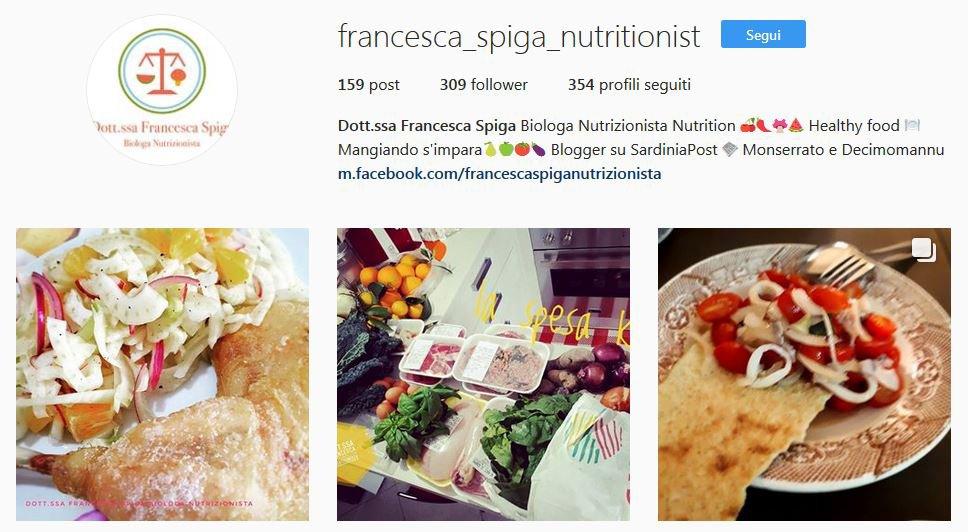 Instagram Dott.ssa Francesca Spiga