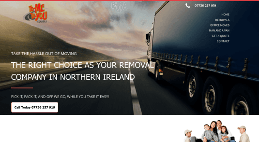 To Me To You Removals Website