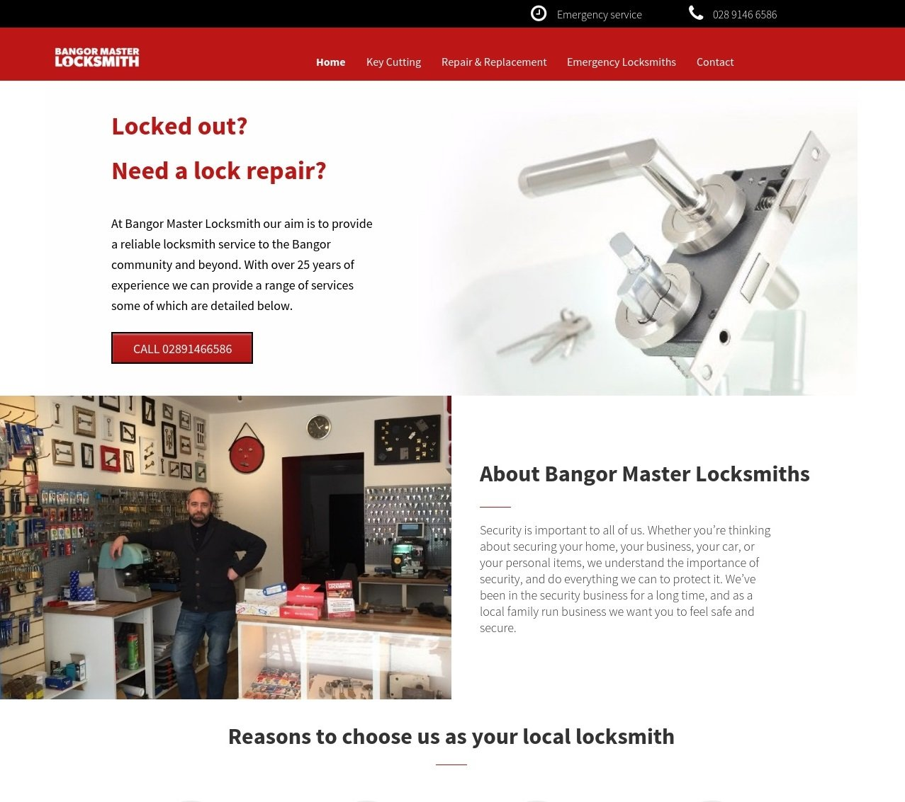 Bangor Master Locksmith website