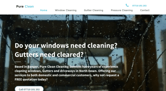 Pure Clean website Northern Ireland
