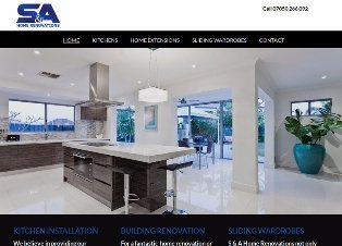 S&A Home Renovations website