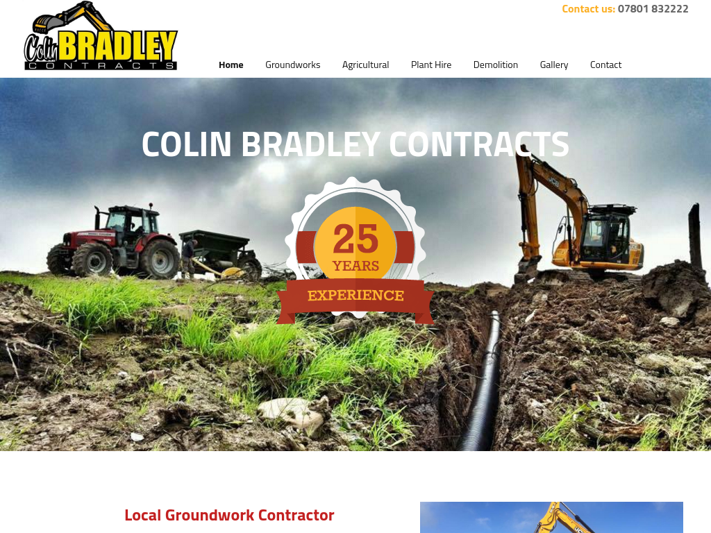 Colin Bradley Contracts website