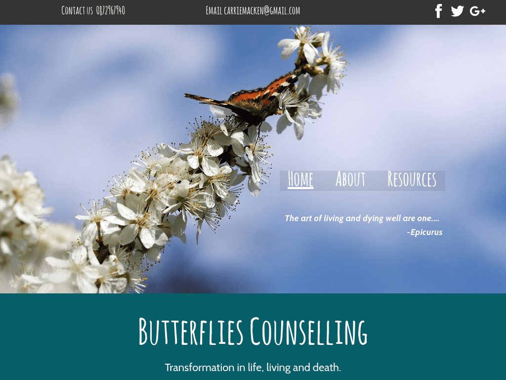 Butterflies Counselling Website