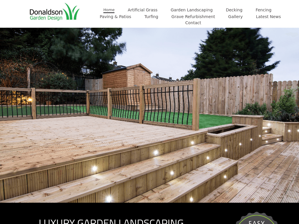 Donaldson Garden Design Website