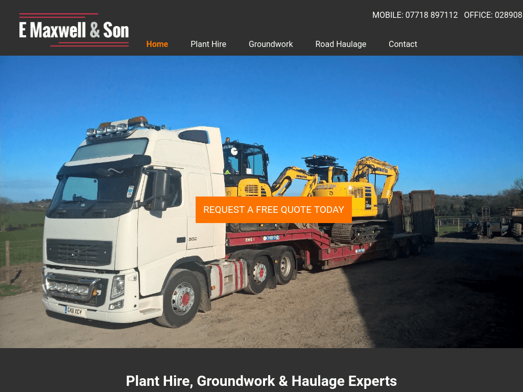 E Maxwell & Son website