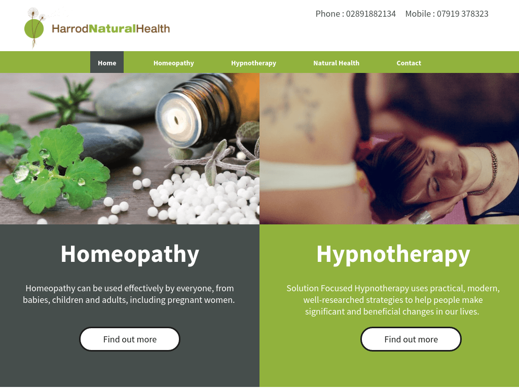 Harrod Natural Health website