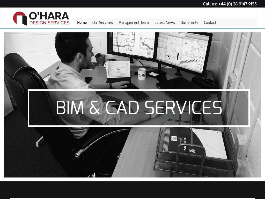 OHara Design Services website