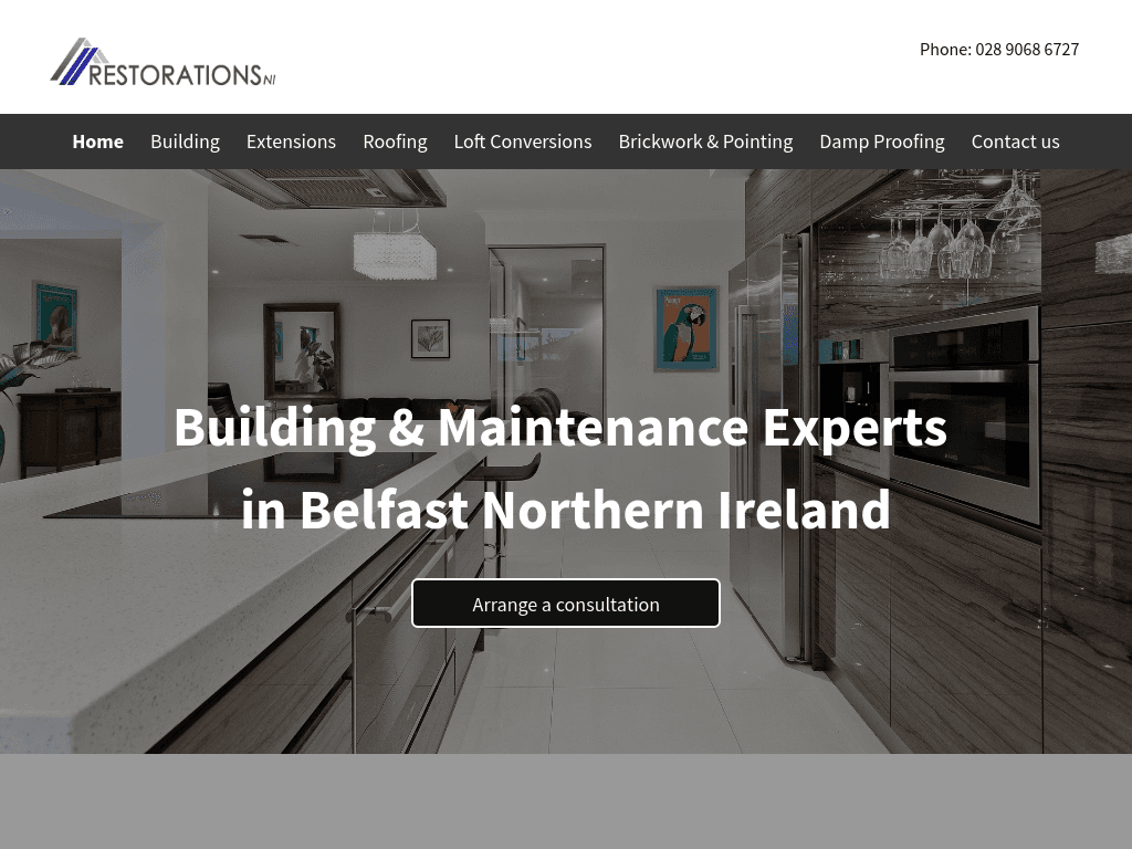 Restorations NI website