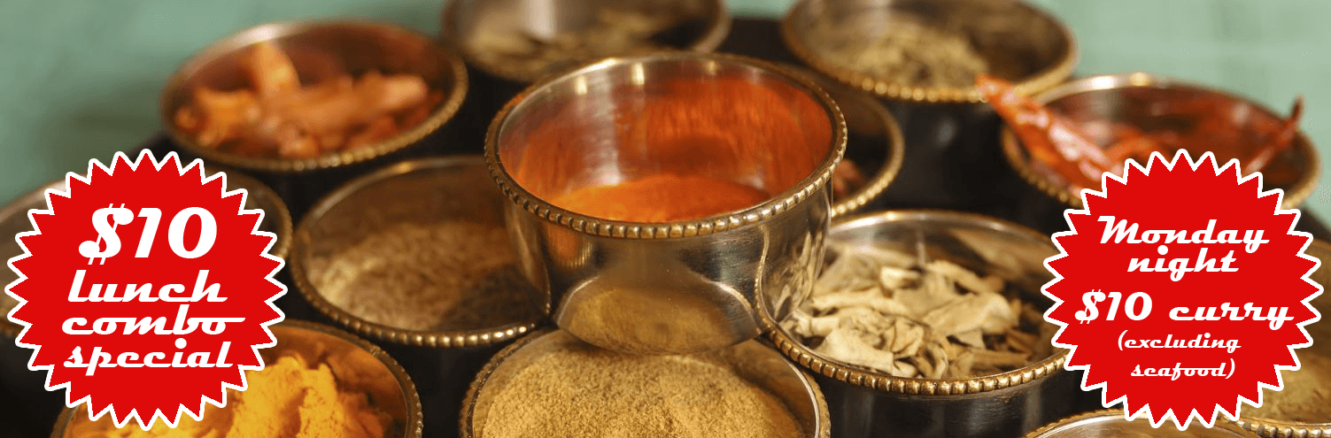 Indian spices at Indian restaurant in Dunedin
