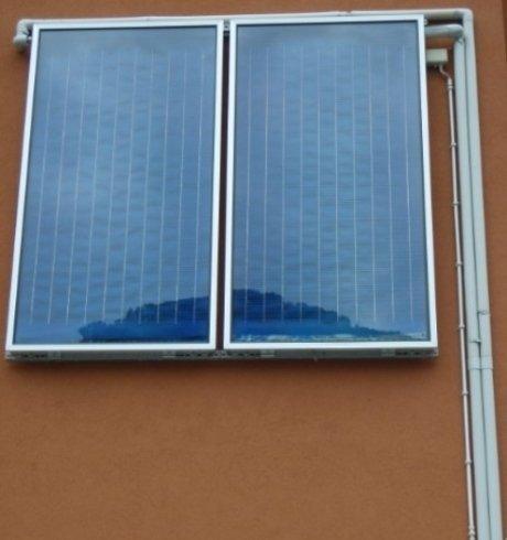 Impianto solare termico per impianto idrotermosanitario civile.