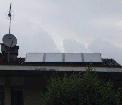 Pannelli solari per produzione acqua calda sanitaria e riscaldamento.