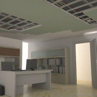 riscaldamento a pannelli radianti a soffitto
