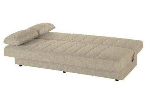 un divano letto color beige