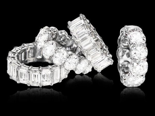 Set di 4 anelli di diamanti