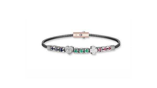 braccialetto con pietre colorate