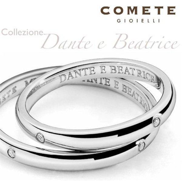 fedi nuziali collezione Dante e Beatrice_ COMETE
