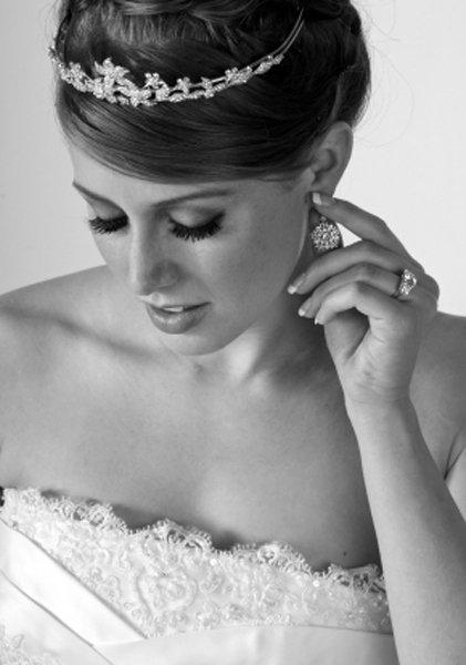 immagine sposa in bianco e nero