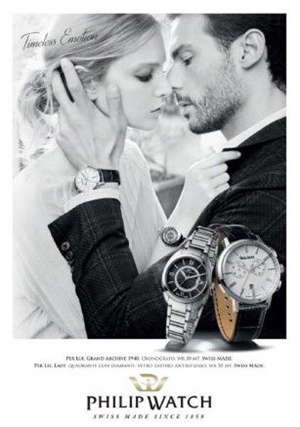 pubblicita di una collezione di orologi